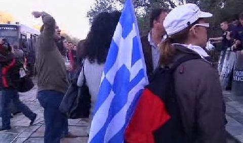 Řecko demonstruje