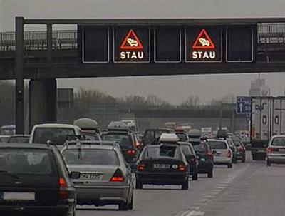Provoz na německých dálnicích