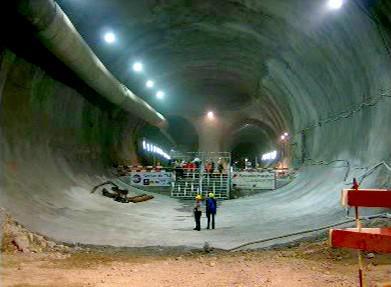 Ražba Gotthardského železničního tunelu