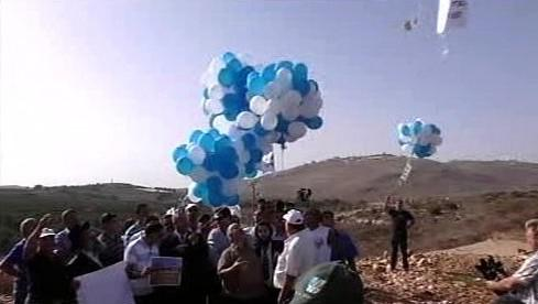 Izraelci posílají balonky