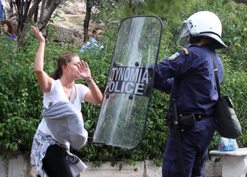 Protesty před Akropolí