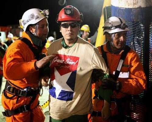 Jednatřicátý vysvobozený horník Pedro Cortéz