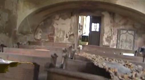 Kostel v klášterním areálu v Českém Krumlově
