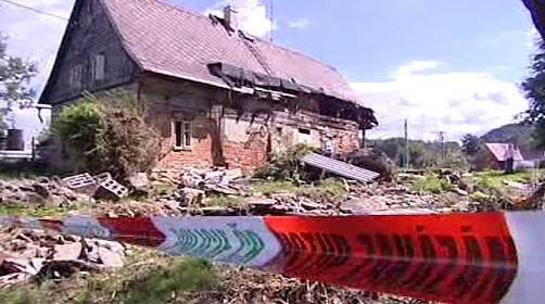 Dům poničený povodní