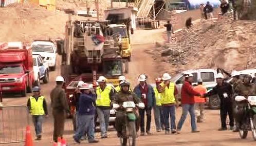 Vrtné zařízení opouští chilský důl