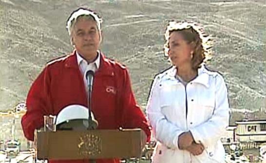 Sebastián Piñera s manželkou