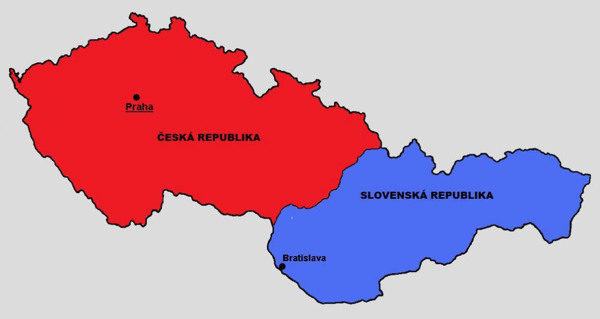 Území bývalého Československa