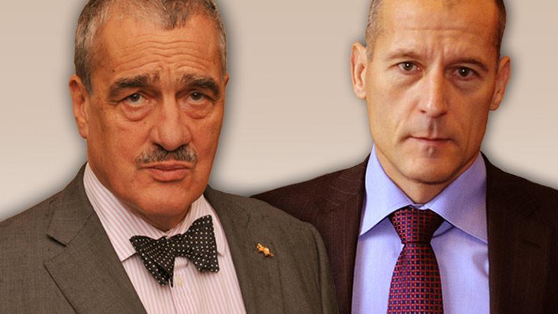 Karel Schwarzenberg a Zdeněk Tůma