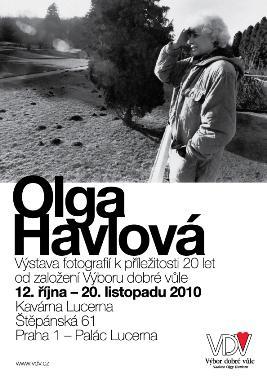Pozvánka na výstavu o Olze Havlové