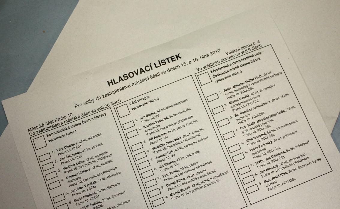 Hlasovací lístek