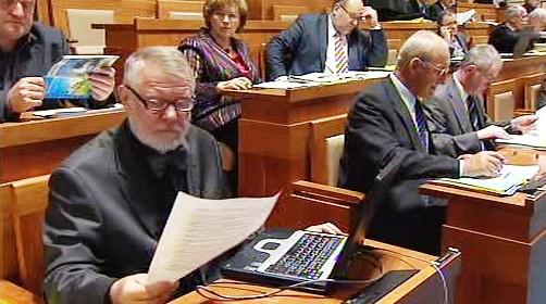 Jaromír Štětina v Senátu