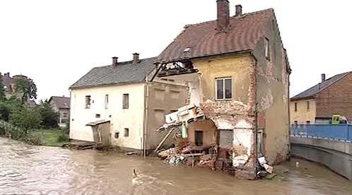 Dům zničený povodní