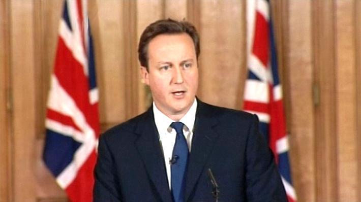 David Cameron na brífinku k úmrtí Lindy Norgroveové