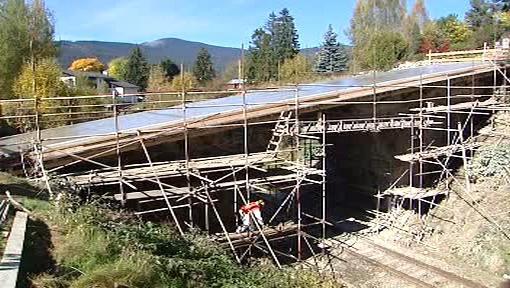 Oprava mostu v Železné Rudě