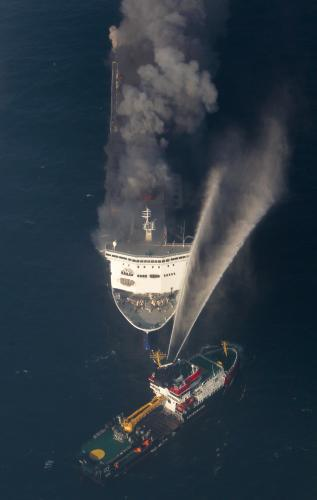 Požár trajektu Lisco Gloria