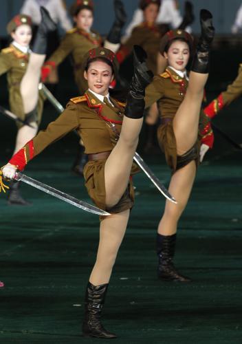 Severokorejské tanečnice
