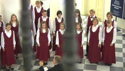 Společné vystoupení dětských sborů z Česka a Drážďan
