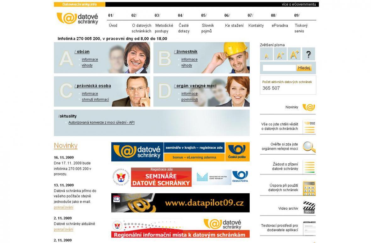Portál www.datoveschranky.info