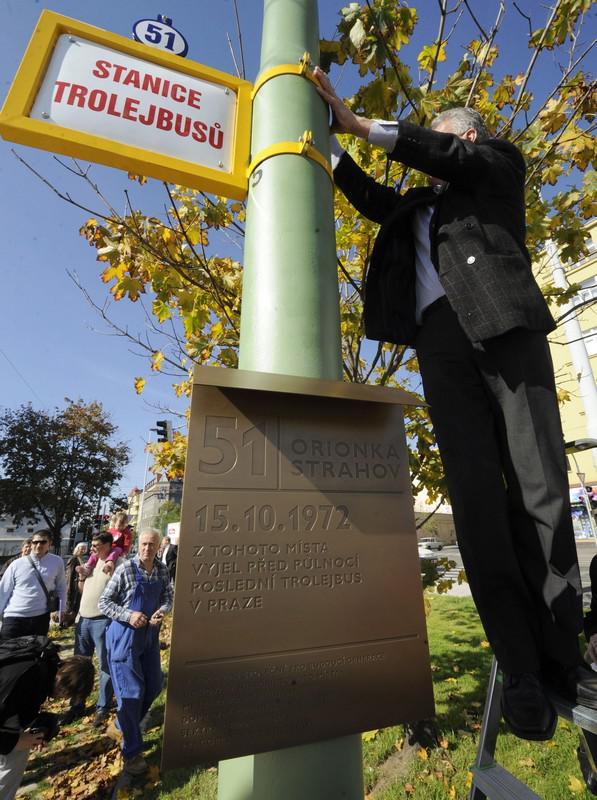 Památník pražských trolejbusů