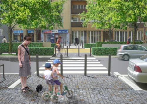 Vizualizace úprav v ulici 5. května