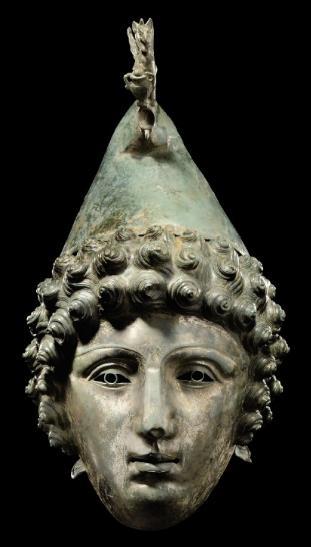 Bronzová římská přilba nalezená u Crosby Garrett