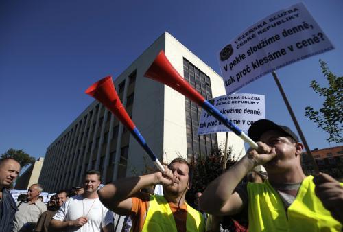 Demonstrace proti rozpočtovým škrtům