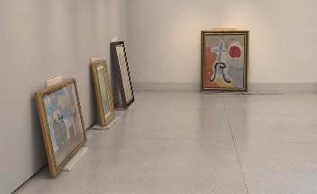 Příprava výstavy Monet - Warhol v NG