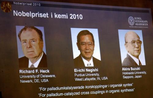 Laureáti Nobelovy ceny za chemii 2010