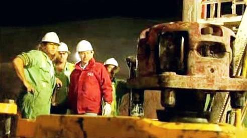 Záchranné práce v chilském dole