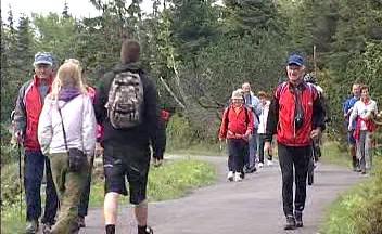 Turisté v Krkonoších