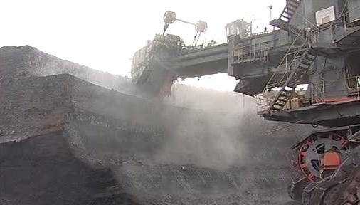 Těžba v uhelných dolech