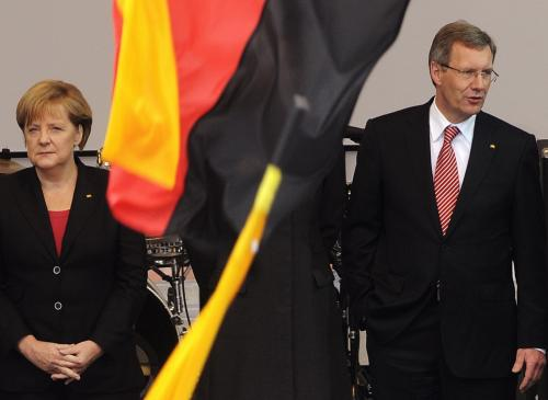 Christian Wulff s Angelou Merkelovou