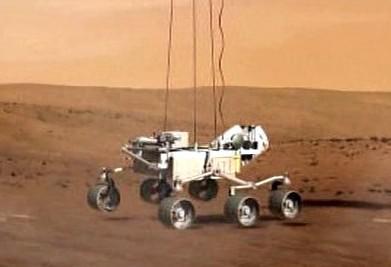 Vozidlo Curiosity na Marsu