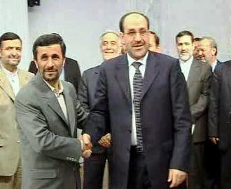 Mahmúd Ahmadínežád a Núrí Málikí