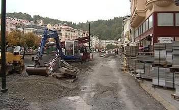 Rekonstrukce pěší zóny v Karlových Varech