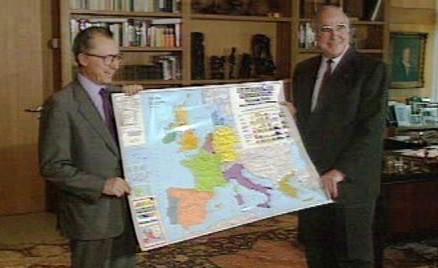 Helmut Kohl s mapou Evropy