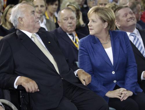 Helmut Kohl a Angela Merkelová