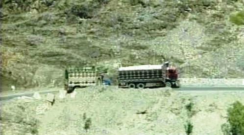 Kamion se zásobami