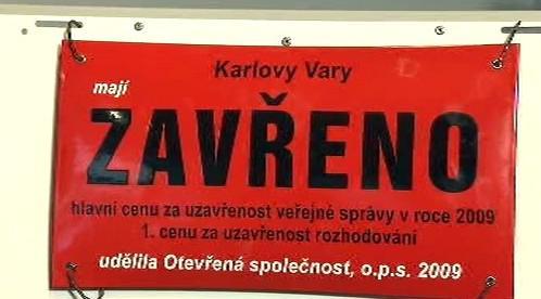 Negativní cena pro Karlovy Vary