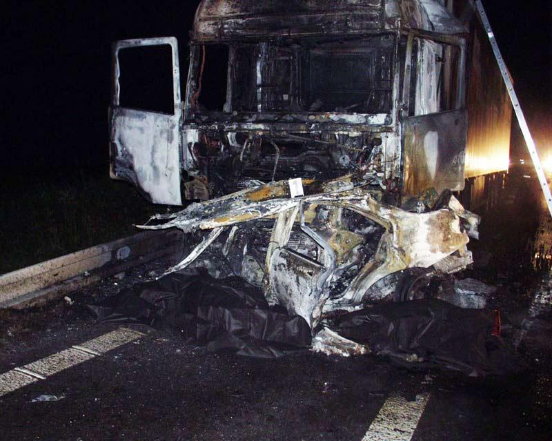 Vraky vozidel po nehodě