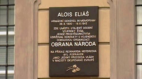 Deska věnovaná Aloisi Eliášovi