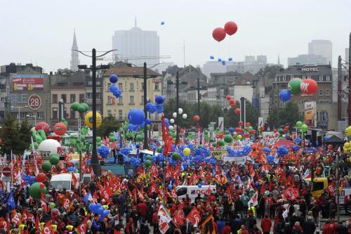 Brusel ochromila demonstrace