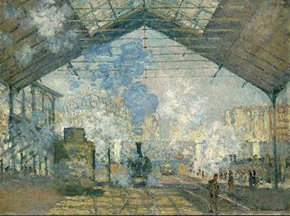 Claude Monet / Nádraží Saint Lazare (1877)