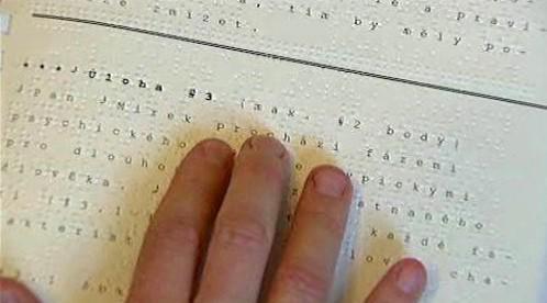 Braillovo slepecké písmo