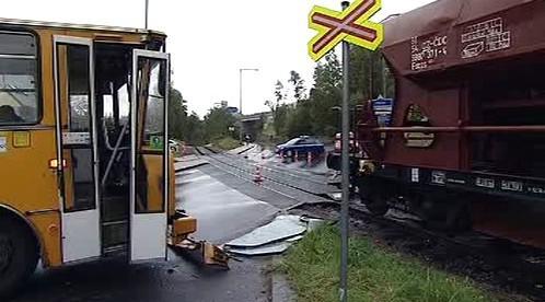 Srážka vlaku s autobusem