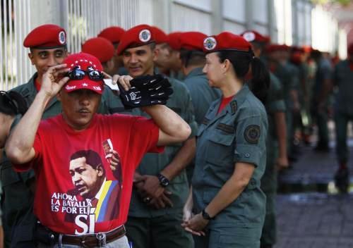 Příznivci Huga Cháveze