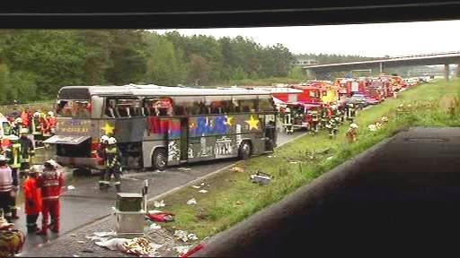 Tragická nehoda autobusu poblíž Berlína