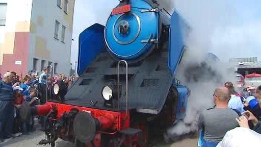 Návštěvníci mohli obdivovat parní lokomotivy