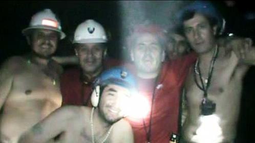 Horníci v Chile