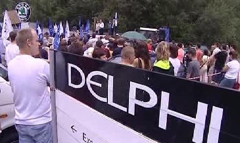 Protest zaměstnanců Delphi Packard